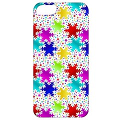 Snowflake Pattern Repeated Apple Iphone 5 Classic Hardshell Case