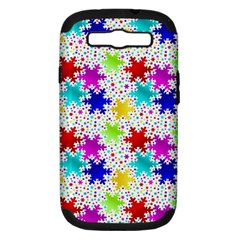 Snowflake Pattern Repeated Samsung Galaxy S III Hardshell Case (PC+Silicone)