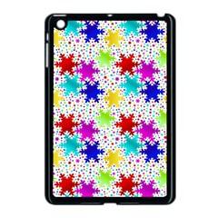 Snowflake Pattern Repeated Apple Ipad Mini Case (black)