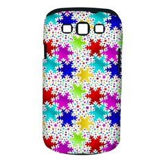 Snowflake Pattern Repeated Samsung Galaxy S Iii Classic Hardshell Case (pc+silicone)