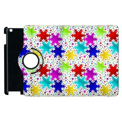 Snowflake Pattern Repeated Apple Ipad 3/4 Flip 360 Case