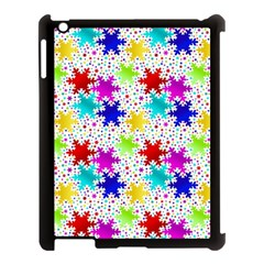 Snowflake Pattern Repeated Apple Ipad 3/4 Case (black)