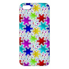 Snowflake Pattern Repeated Apple iPhone 5 Premium Hardshell Case