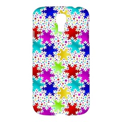 Snowflake Pattern Repeated Samsung Galaxy S4 I9500/i9505 Hardshell Case