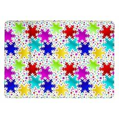 Snowflake Pattern Repeated Samsung Galaxy Tab 10.1  P7500 Flip Case