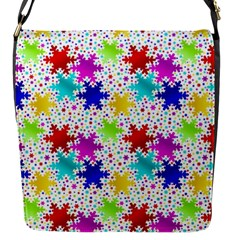 Snowflake Pattern Repeated Flap Messenger Bag (s)