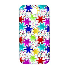Snowflake Pattern Repeated Samsung Galaxy S4 I9500/i9505  Hardshell Back Case