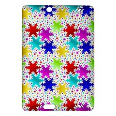Snowflake Pattern Repeated Amazon Kindle Fire Hd (2013) Hardshell Case