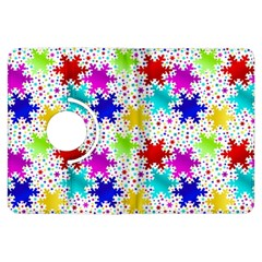 Snowflake Pattern Repeated Kindle Fire Hdx Flip 360 Case