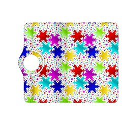 Snowflake Pattern Repeated Kindle Fire Hdx 8 9  Flip 360 Case