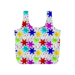 Snowflake Pattern Repeated Full Print Recycle Bags (s)