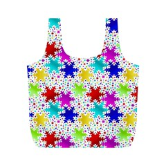 Snowflake Pattern Repeated Full Print Recycle Bags (m)