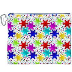 Snowflake Pattern Repeated Canvas Cosmetic Bag (xxxl)