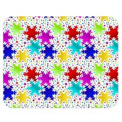Snowflake Pattern Repeated Double Sided Flano Blanket (medium)