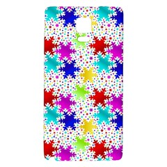 Snowflake Pattern Repeated Galaxy Note 4 Back Case