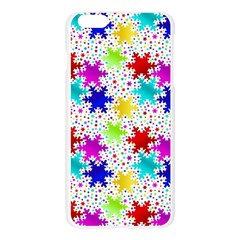 Snowflake Pattern Repeated Apple Seamless iPhone 6 Plus/6S Plus Case (Transparent)