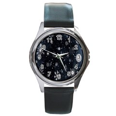 Snowflake Snow Snowing Winter Cold Round Metal Watch