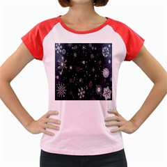 Snowflake Snow Snowing Winter Cold Women s Cap Sleeve T Shirt