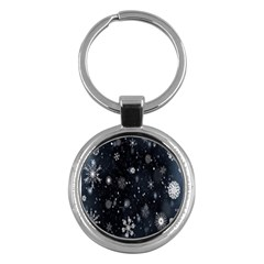 Snowflake Snow Snowing Winter Cold Key Chains (Round)