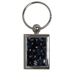Snowflake Snow Snowing Winter Cold Key Chains (Rectangle)