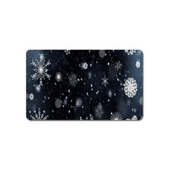 Snowflake Snow Snowing Winter Cold Magnet (Name Card)
