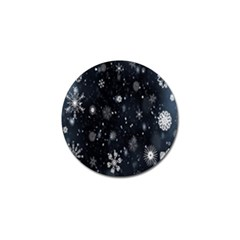 Snowflake Snow Snowing Winter Cold Golf Ball Marker