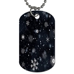 Snowflake Snow Snowing Winter Cold Dog Tag (Two Sides)
