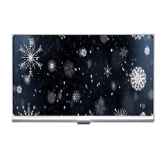 Snowflake Snow Snowing Winter Cold Business Card Holders