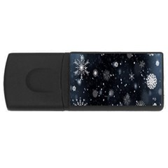 Snowflake Snow Snowing Winter Cold USB Flash Drive Rectangular (2 GB)