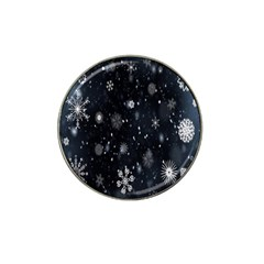 Snowflake Snow Snowing Winter Cold Hat Clip Ball Marker