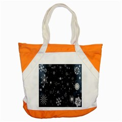 Snowflake Snow Snowing Winter Cold Accent Tote Bag