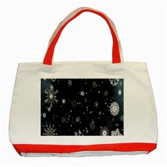 Snowflake Snow Snowing Winter Cold Classic Tote Bag (Red)