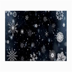 Snowflake Snow Snowing Winter Cold Small Glasses Cloth (2 Side)