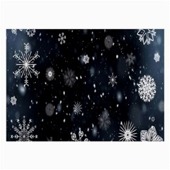 Snowflake Snow Snowing Winter Cold Large Glasses Cloth