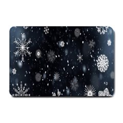 Snowflake Snow Snowing Winter Cold Small Doormat