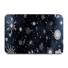 Snowflake Snow Snowing Winter Cold Plate Mats