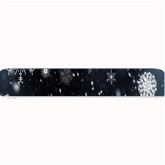 Snowflake Snow Snowing Winter Cold Small Bar Mats