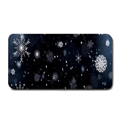 Snowflake Snow Snowing Winter Cold Medium Bar Mats