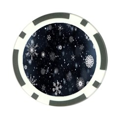 Snowflake Snow Snowing Winter Cold Poker Chip Card Guard
