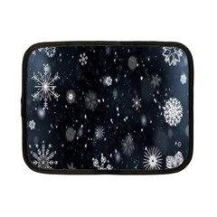 Snowflake Snow Snowing Winter Cold Netbook Case (Small)