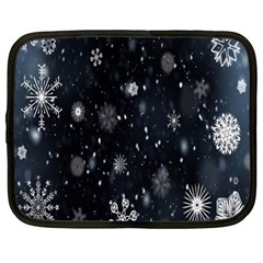 Snowflake Snow Snowing Winter Cold Netbook Case (large)