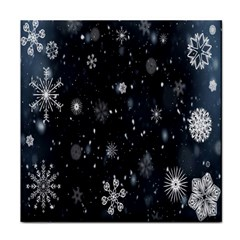 Snowflake Snow Snowing Winter Cold Face Towel