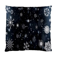 Snowflake Snow Snowing Winter Cold Standard Cushion Case (two Sides)