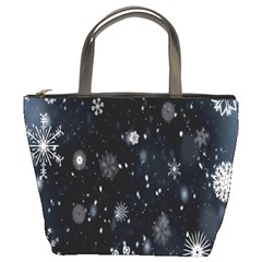 Snowflake Snow Snowing Winter Cold Bucket Bags