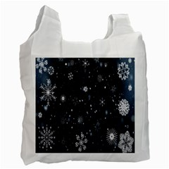 Snowflake Snow Snowing Winter Cold Recycle Bag (Two Side)