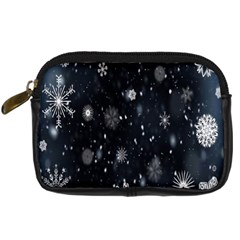Snowflake Snow Snowing Winter Cold Digital Camera Cases