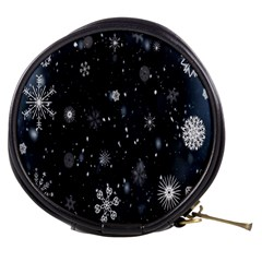 Snowflake Snow Snowing Winter Cold Mini Makeup Bags