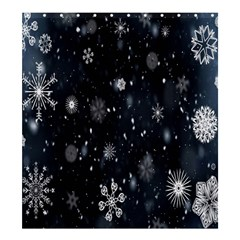 Snowflake Snow Snowing Winter Cold Shower Curtain 66  x 72  (Large)