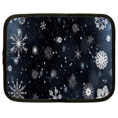 Snowflake Snow Snowing Winter Cold Netbook Case (XL)