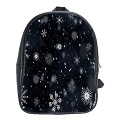 Snowflake Snow Snowing Winter Cold School Bags(Large)